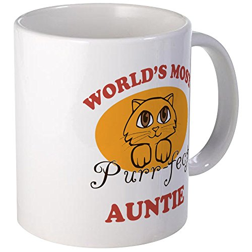CafePress One Purrfect Auntie Mug Unique Coffee Mug, Coffee Cup