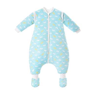 AIKSSOO Saco de Dormir para Bebé de Invierno Algodón Acolchado con Pierna Partida Desmontable de Manga Larga, Aprox. 3.5 TOG: Amazon.es: Ropa y accesorios