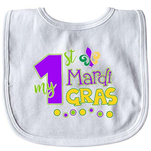 (Inktastic - My 1st Mardi Gras with Dots Baby Bib White 2e4eb )