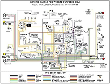 [DIAGRAM_09CH]  Amazon.com: Full Color Laminated Wiring Diagram FITS 1954 Ford Car Large  11