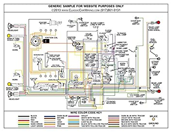 Full Color Laminated Wiring Diagram FITS 1954 Ford Car Large 11