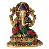 Gangesindia Kamalasana Lord Ganesh Brass Statue