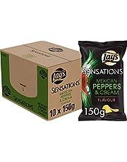 Lay's Sensation Chips Mexican Pepper, Doos 10 stuks x 150 g