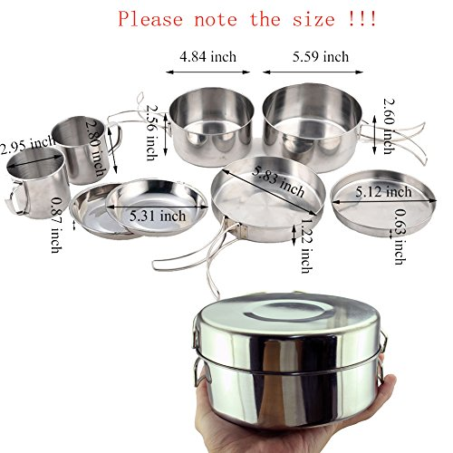 BeGrit-Backpacking-Camping-Cookware-Picnic-Camp-Cooking-Cook-Set-for-Hiking-8pcsset-410-Stainless-Steel