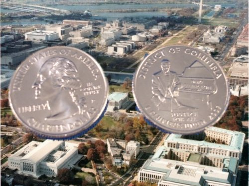 2009 Washington DC Quarter D Mint BU Business Strike Coin by