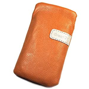Funda Pochette de piel sintética naranja L para Samsung Galaxy Star 2