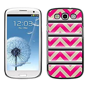 Paccase / SLIM PC / Aliminium Casa Carcasa Funda Case Cover - Pattern Pink Beige Lines Abstract - Samsung Galaxy S3 I9300