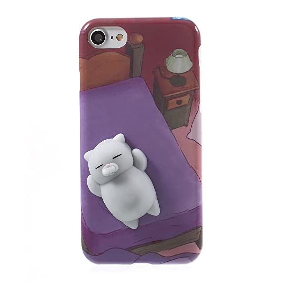 Se7enline Cute 3D Squishy Case for iPhone 7 Anti-Anxiety Kneading Soft  Silicone Finger Pinch 5c4b95ac01