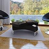 Black High Gloss Coffee Table zhihuitong High Gloss Coffee Table for Living Room, Shape-Adjustable, Black