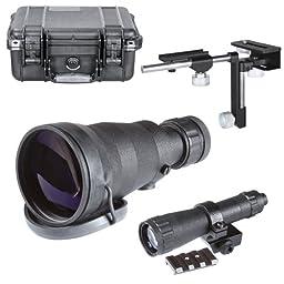 Armasight Long Range Kit for Nyx14 Multi-Purpose Night Vision Monocular: 8x Lens, IR850, Weaver Rail Adapter , Universal CA, Hard Case