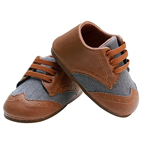 Pictures of Kuner Baby Boys Brown Pu Leather +Canvas Brown 2