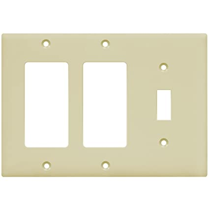 Enerlites Combination Wall Plate Two Decoratorone Toggle Switch