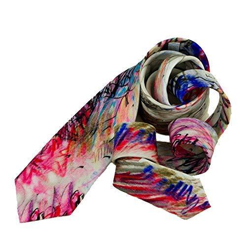 Corbata estampado Dalí, Diseño divertido informal, Corbata seda ...