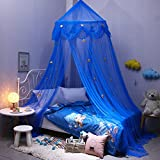 Per Polyester Dome Bed Canopy Kids Play Tent Mosquito Net with Stars Reading Play Tents Indoor&Outdoor Games House for Children-B