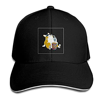 Fenme Corgi Dog Unisex Sandwich Caps Cool Snapback Hats Casual Trucker Hats Graphic Snapback Cap