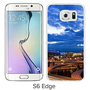 New Beautiful Custom Designed Cover Case For Samsung Galaxy S6 Edge With Great City Seen (2) Phone Case