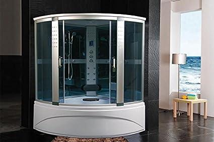 Cabina doccia idromassaggio sauna bagno turco 150x150: Amazon.it ...