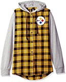 NFL Pittsburgh Steelers Womens NFL Women's Lightweight Flannel Hooded Jacket, Medium