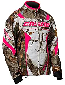 Castle X Bolt Realtree G4 Womens Snowmobile Jacket - Realtree/Hot Pink - XLG