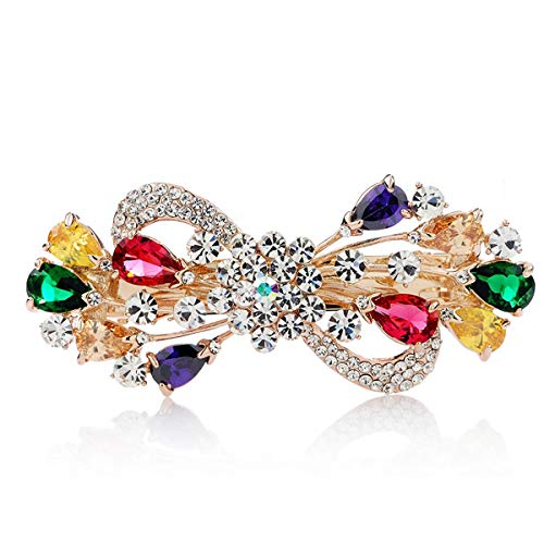 ANQIQI Hairpin Butterfly Single Knot Simple Jewelry Elegant Exquisite Rhinestone Alloy Mother's Day Birthday Gift Box (Color : Iridescent)