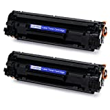 Office World Compatible Toner Cartridge Replacement for HP 83A CF283A (Black, 2-Packs), Work with Laserjet Pro M201dw M127fw M225dw M127fn M125nw M225dn