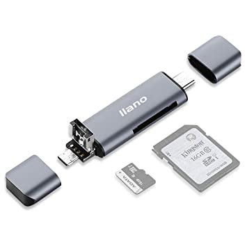 Nllano Lector Tarjeta de Memoria SD/Micro SD, Adaptador ...