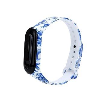 Fossrn para Xiaomi Mi Band 3, Silicona Correa de Reloj Reemplazo de Bandas Coloridas Imprimir Banda para Xiaomi Mi Band 3 Bracelet (B): Amazon.es: Deportes ...