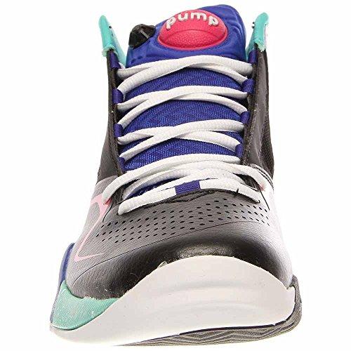 Reebok Heren Pumpspective Omni Basketbalschoen Zwart / Blauw Zet / Emerald Zee / Wit / Candy Pink