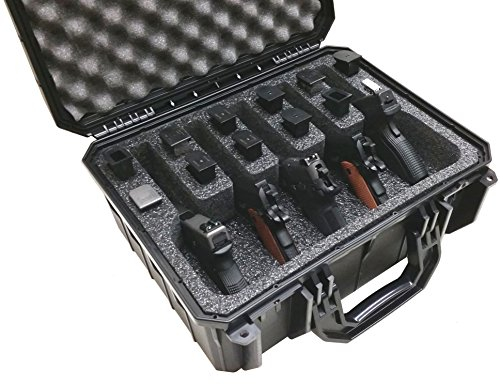 Case Club Waterproof 5 Pistol Case with Silica Gel to Help Prevent Gun Rust