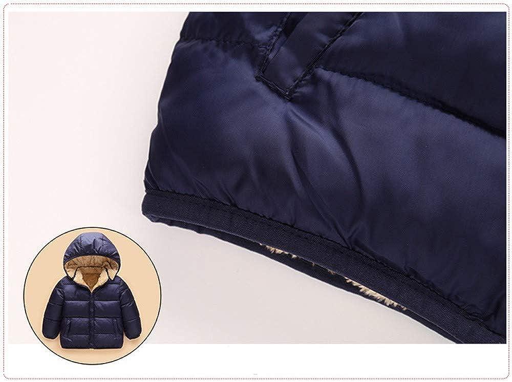 Tronet Kids Baby Snowsuit Winter Warm Zipper Hooded Coat Pure Color Plus Velvet Jacket Cloak Thicken Warm Outerwear Clothes