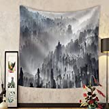 Niasjnfu Chen Custom tapestry Sunrise in the forest near Bromo volcano Java island Indonesia - Fabric Wall Tapestry Home Decor