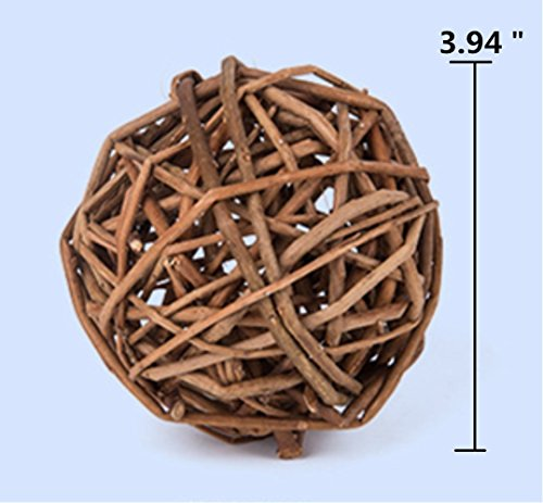 Image of Hamiledyi Small Animal Toy Ball,Grass Ball for Pets,Funny Activity Toy Balls(Pack of 4)