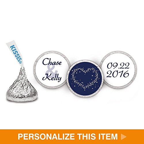 Stars Stickers Dazzle (Dazzle Wedding Stickers for HERSHEY KISSES - Navy (108 Count))