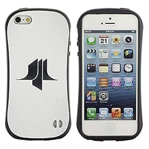 Suave TPU GEL Carcasa Funda Silicona Blando Estuche Caso de protección (para) Apple Iphone 5 / 5S / CECELL Phone case / / paper man /