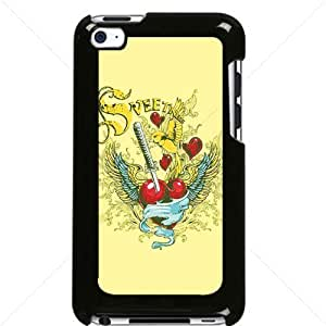 Valentine's Day Gift Sweet Heart Love Apple iPod Touch iTouch 4th Generation Hard Plastic Black or White cases (Black)Kimberly Kurzendoerfer