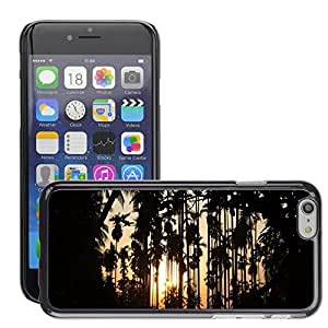 """Super Stella Slim PC Hard Case Cover Skin Armor Shell Protection // M00421288 Sunset Silhouette Coconut Garden // Apple iPhone 6 4.7"""""""