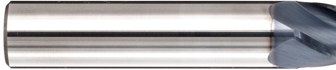 Metric 10mm Shank Diameter 30 Deg Helix Melin Tool CCMG-M-M-LB Carbide Ball Nose End Mill 100mm Overall Length 10mm Cutting Diameter 4 Flutes AlTiN Monolayer Finish