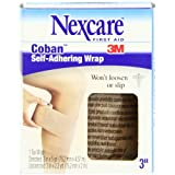Nexcare Coban 3 Inch Wide Self-Adherent Wrap, 5 - Yard Roll, 1 - Count Boxes