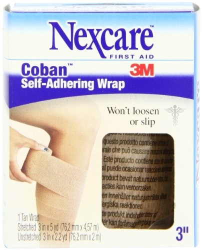 Nexcare Coban Self-Adherent Wrap, 3-Inch x 5-Yard Roll, 1 Count Box (Athletic Wrap Nexcare)