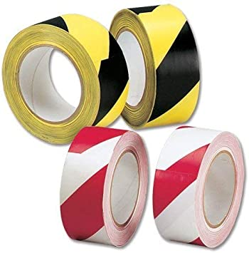 "Square Reflective Self adhesive Hazard Warning Tape Sticker 2/"" 50mm Width"