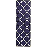 Unique Loom Trellis Collection Navy Blue 3 x 8 Runner Area Rug (2 7 x 8)