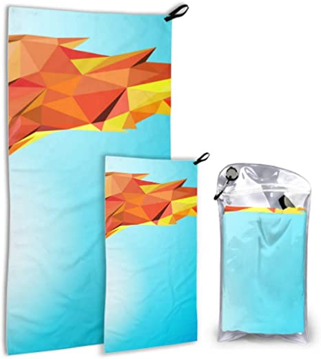 LIANGWE A Burning Torch 2 Pack Microfiber Sports Shower Towel ...