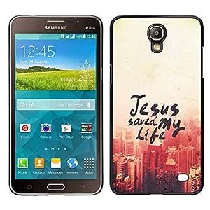LECELL--Funda protectora / Cubierta / Piel For Samsung Galaxy Mega 2 -- BIBLIA Jesús ahorró mi vida --