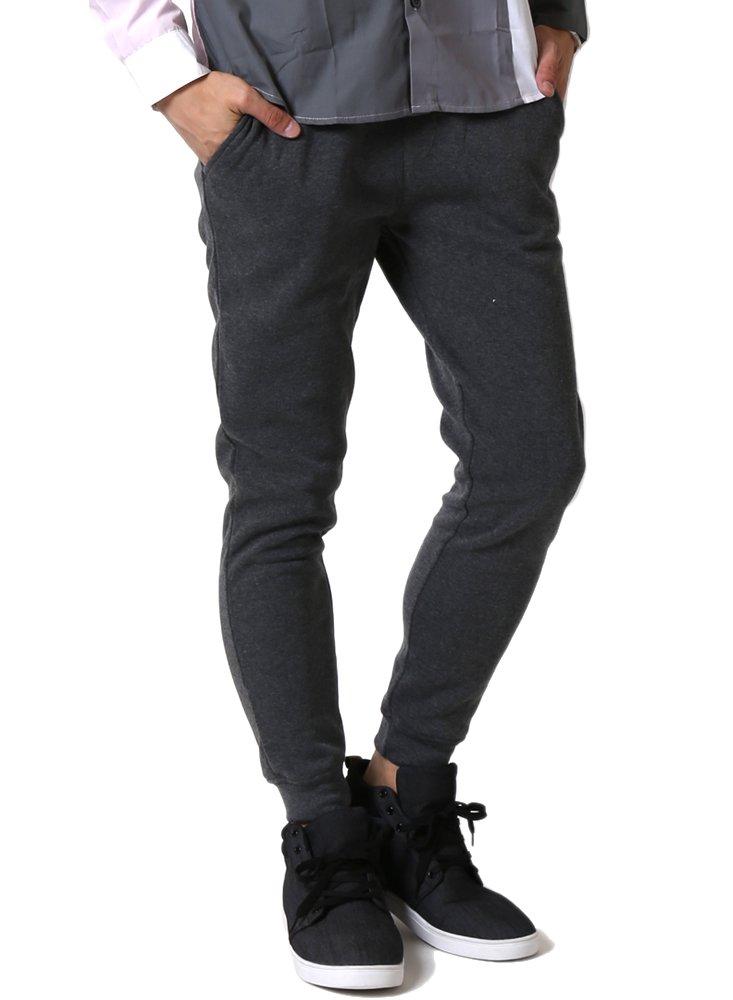 (アーケード) ARCADE ジョガーパンツ メンズ 細身 スキニ― 暖かい 裏起毛 スウェットパンツ