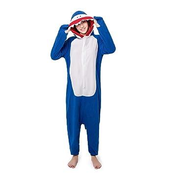 YLOVOW Unisexo Kigurumi Pijamas con Capucha, Pijamas Disfraz De Animal Traje De Noche,Adulto