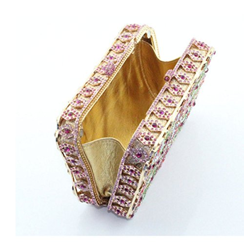 Diamant Luxe De Gold Femmes Sac Soirée En à Main Pour De Sac qBSO44
