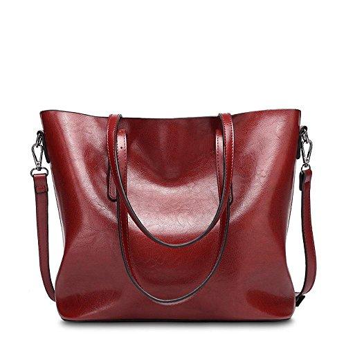 Aoligei PU cuir unique sac à bandoulière simple centaines grande capacité paquet rétro singles épaule Messenger sac à main B