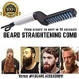 Quick Beard Straightener Comb Styler Multifunctional Quick Hair Straightener Comb Curling Curler Show Cap Tool for Men