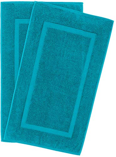 Luxury Hotel and Spa Quality, 100% Ring Spun Genuine Cotton, Maximum Softness and Absorbency by United Home Textile (Towel Panel Bath Mat Set, Aqua Ocean)