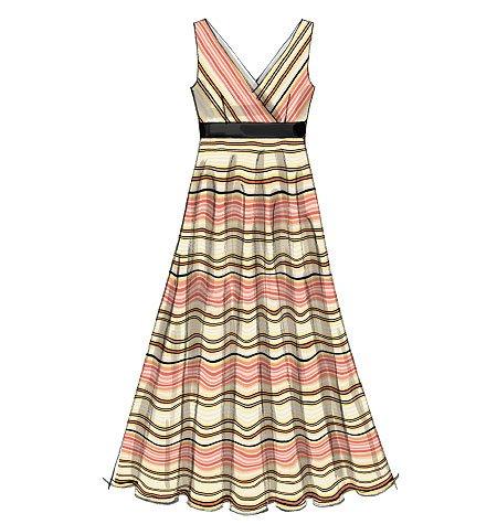 Unbekannt McCall\'s Nähmuster 6557, Damen-Kleid Größe 42-50: Amazon ...